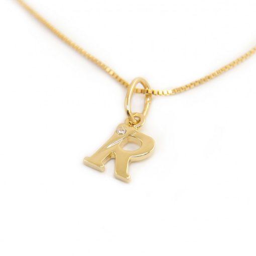 Arany R-betűs medál (Au601040)