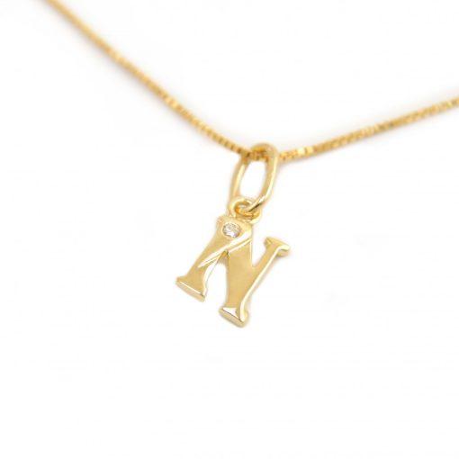 Arany N-betűs medál (Au601042)