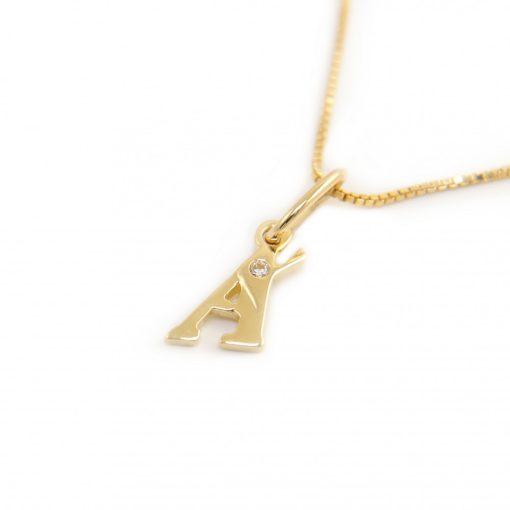 Arany Á-betűs medál (Au601049)