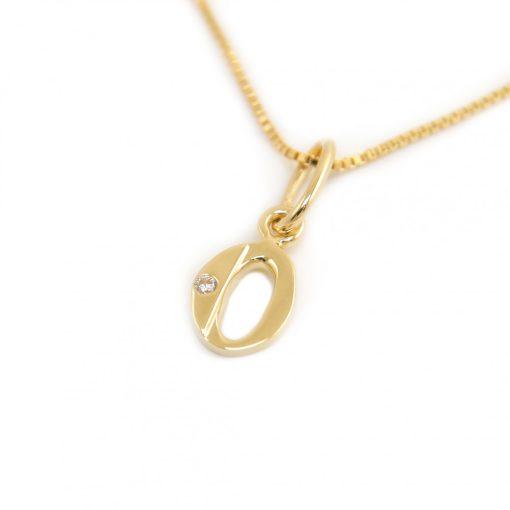 Arany O-betűs medál (Au601050)