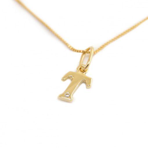 Arany T-betűs medál (Au601051)
