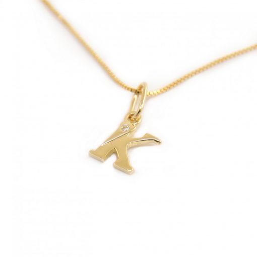 Arany K-betűs medál (Au601055)