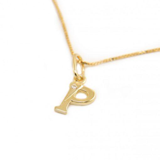 Arany P-betűs medál (Au601057)