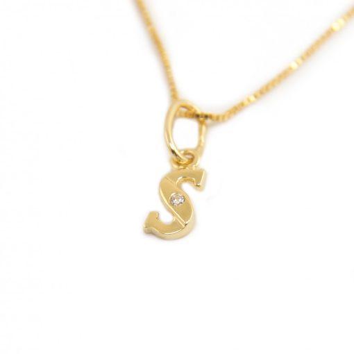 Arany S-betűs medál (Au601059)