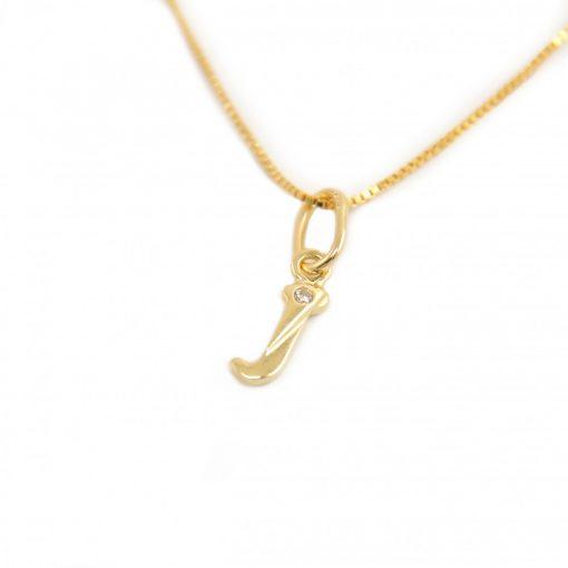 Arany J-betűs medál (Au601064)