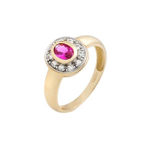 14K Arany Gyűrű (Au60777) Méret: 56