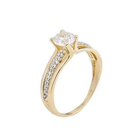 14K Arany Gyűrű (Au61348) Méret: 57