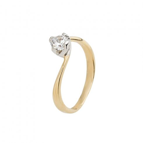 14K Arany Gyűrű (Au61353) Méret: 55