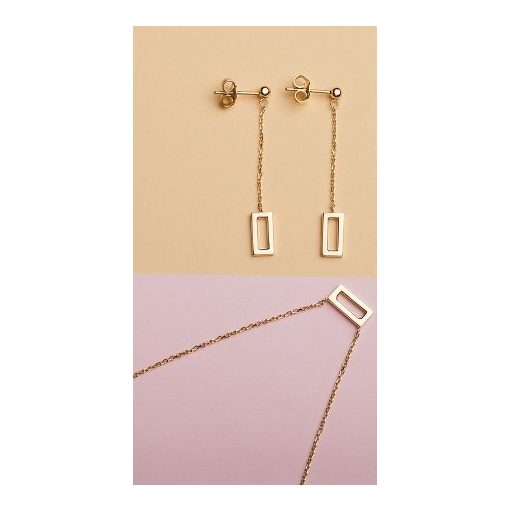 Anna szett - 14K arany nyaklánc medállal és fülbevaló
