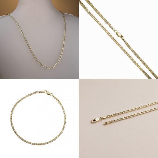 Barbara szett - 14K arany nyaklánc és karlánc