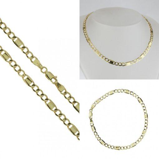 Figaró szett - 14K arany nyaklánc és karlánc