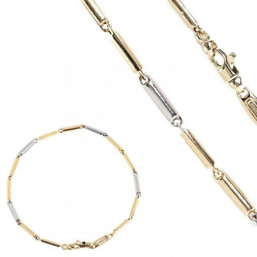 Mutatós szett - 14K arany nyaklánc és karlánc