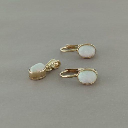 Opál szett - 14K arany medál és gyűrű