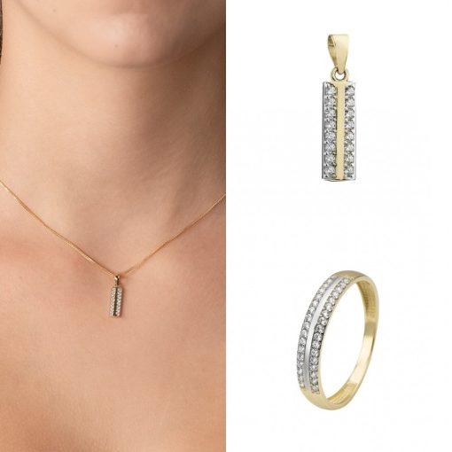 Párizs szett - 9K arany medál, gyűrű