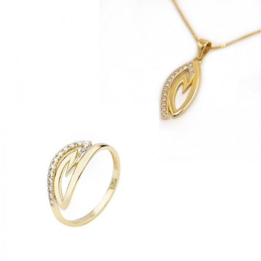 Róma szett - 9K arany gyűrű és medál