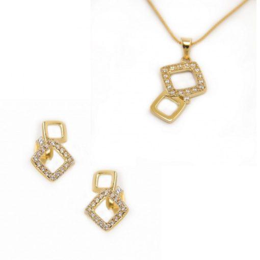 Tangó duó szett - 9K arany medál és fülbevaló