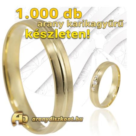 1000 db arany karikagyűrű készleten
