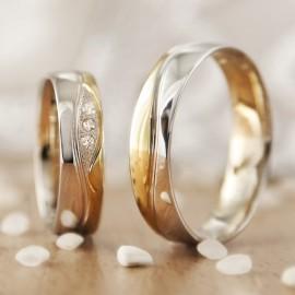 Jégvarázs arany karikagyűrű