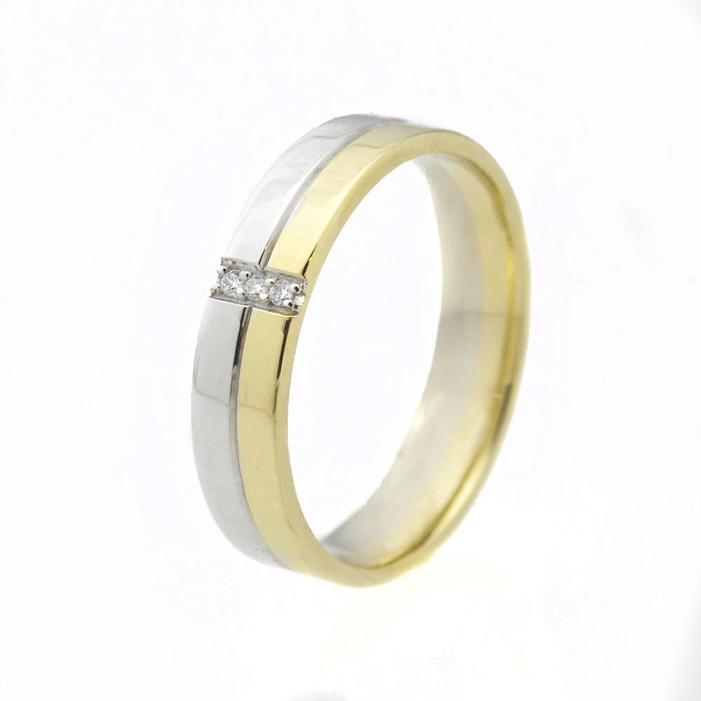 Szivárvány modell - 14K arany Karikagyűrű (Au550008) - méret: 56