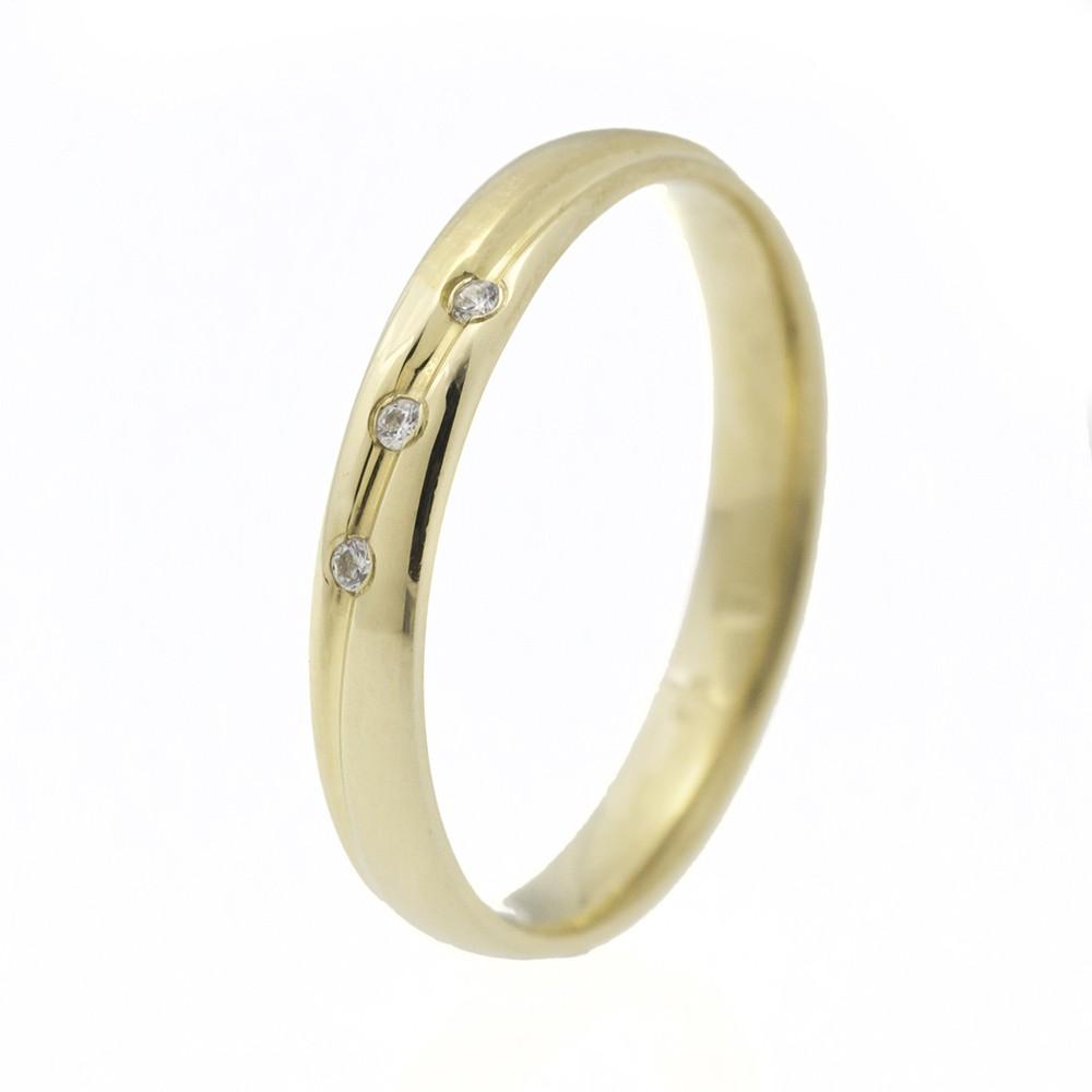 Varázslatos Szépség modell - 14K arany Karikagyűrű (Au571007) - méret: 49