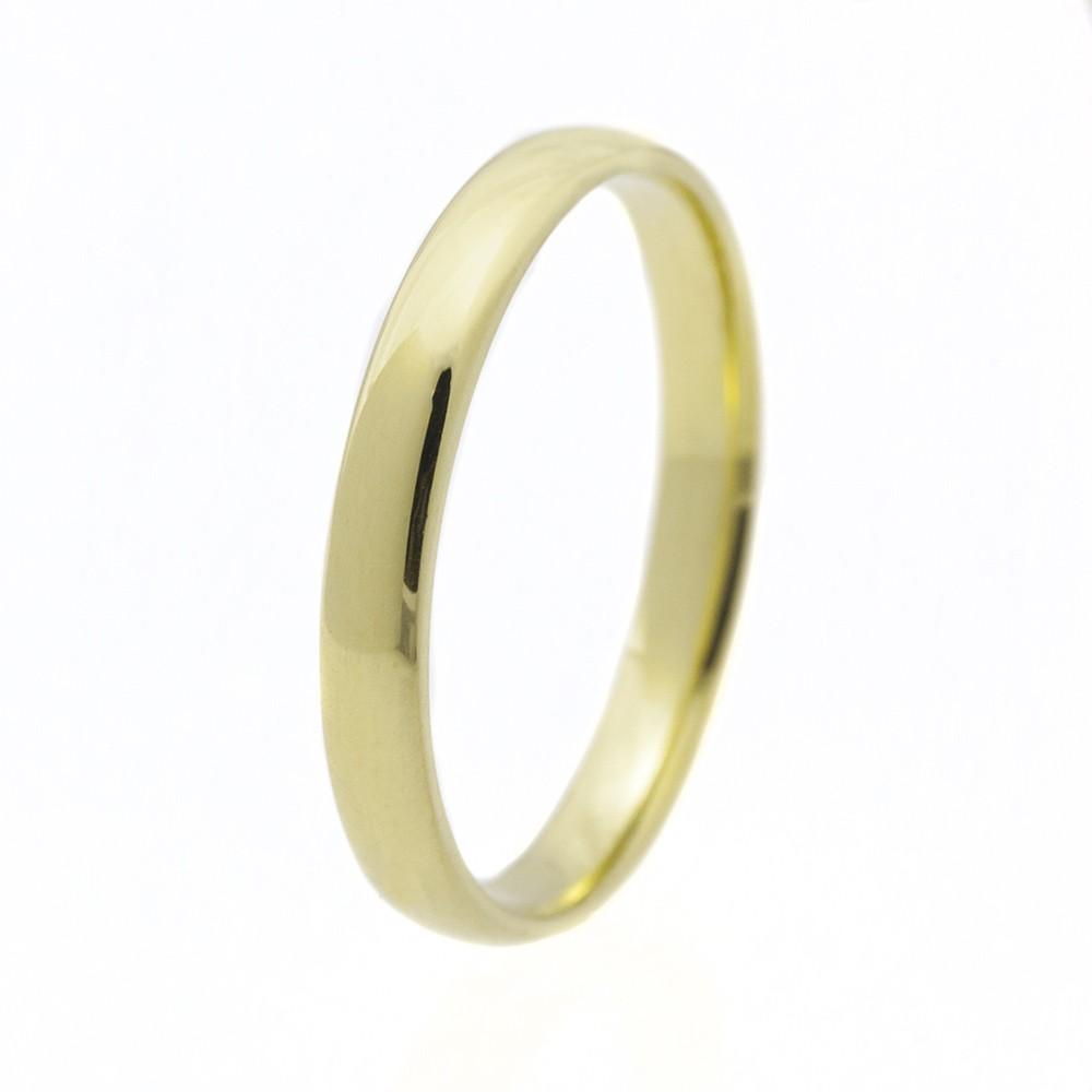 Klasszikus 3 mm modell - 14K arany Karikagyűrű (Au568012) - méret: 59