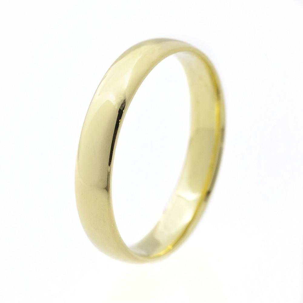 Klasszikus 4 mm modell - 14K arany Karikagyűrű (Au590003) - méret: 68