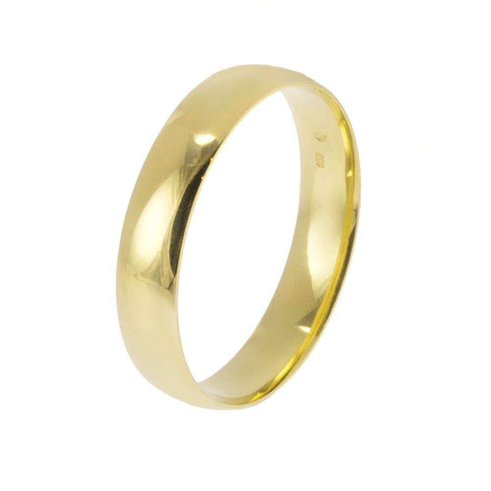 Klasszikus 5 mm modell - 9K arany Karikagyűrű (Au589027) - méret: 58