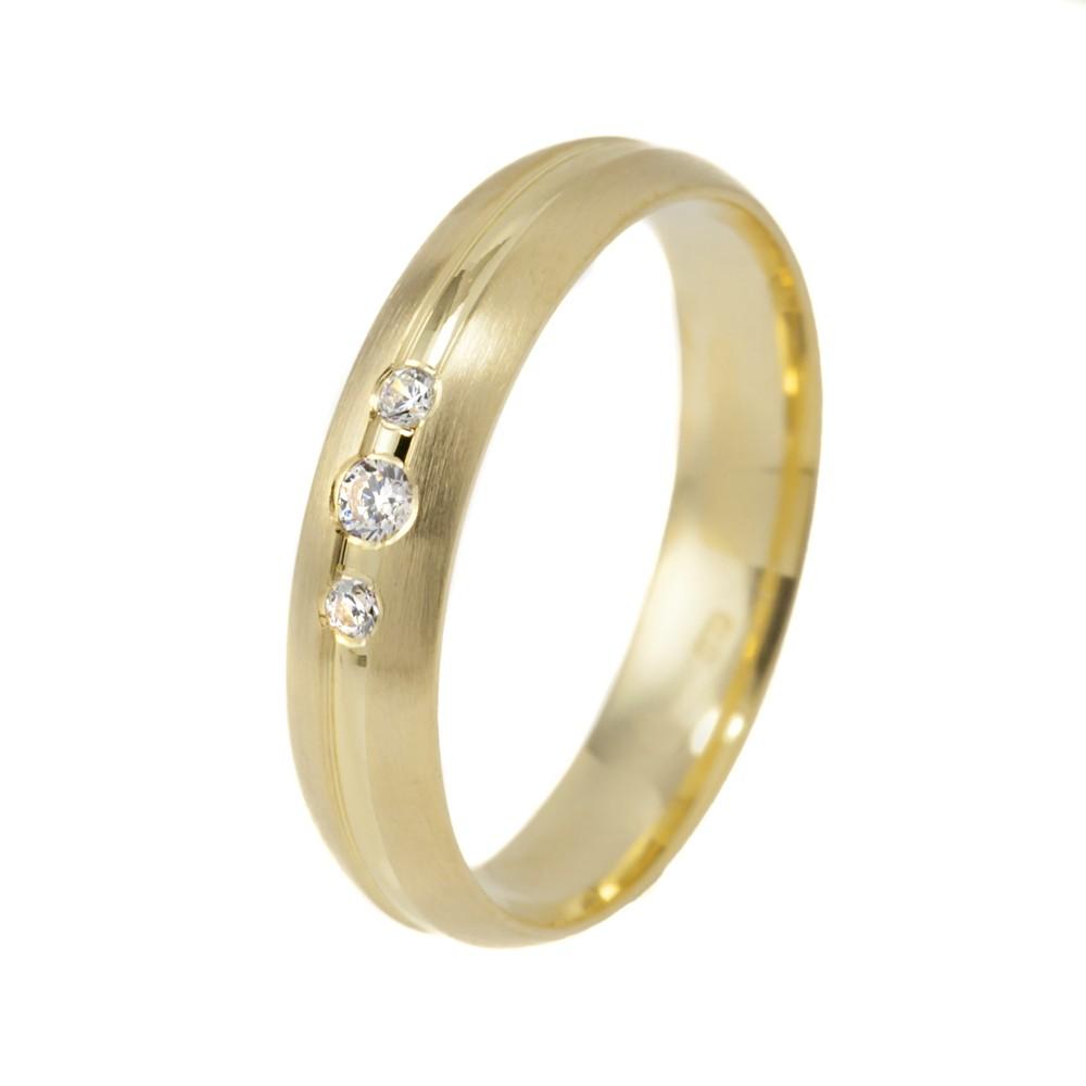 Tökéletes Harmónia modell - 9K arany Karikagyűrű (Au589032) - méret: 56
