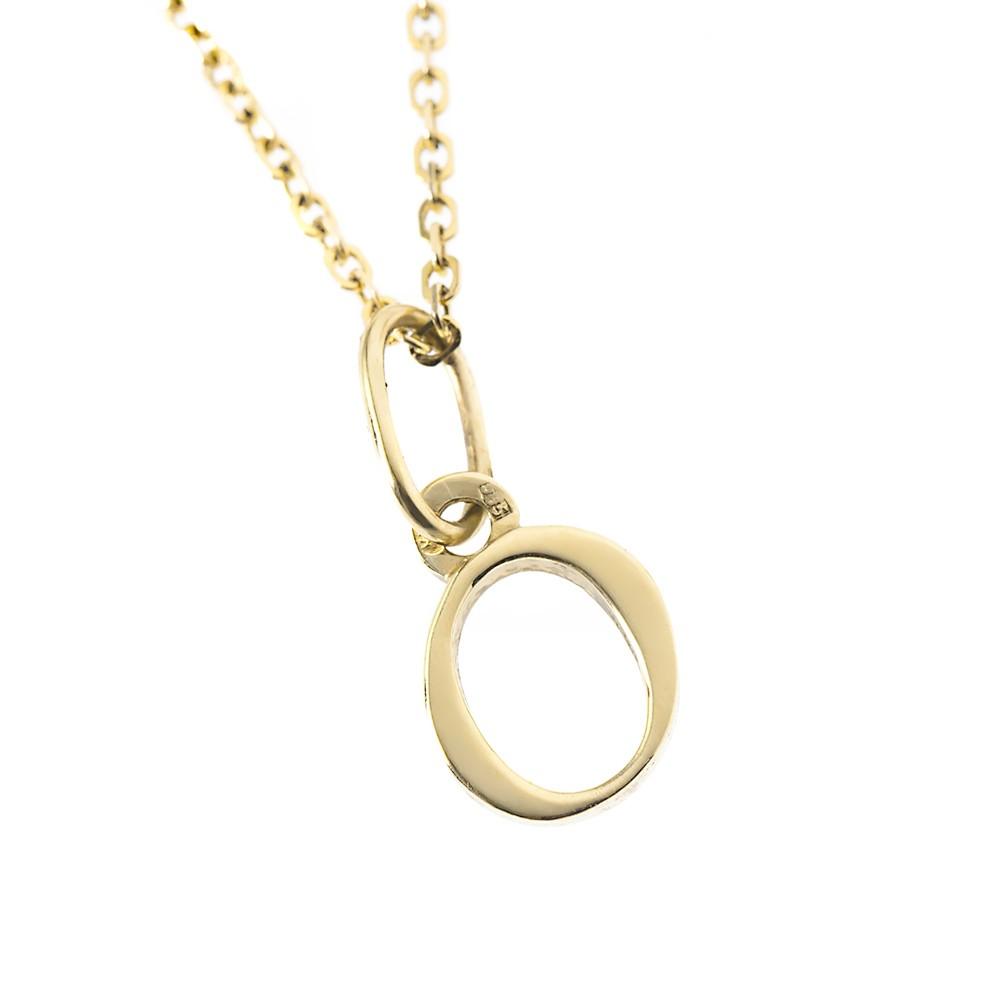 Arany O-betűs medál (Au38457)