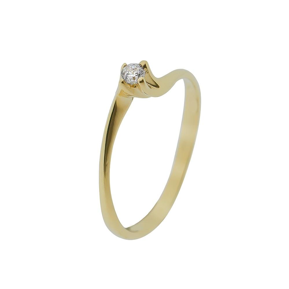 14K Arany Gyűrű (Au407045) Méret: 53