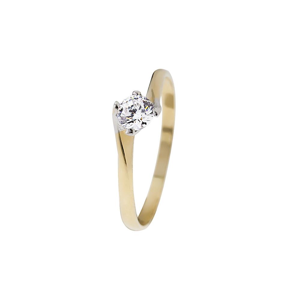 14K Arany Gyűrű (Au416001) Méret: 55