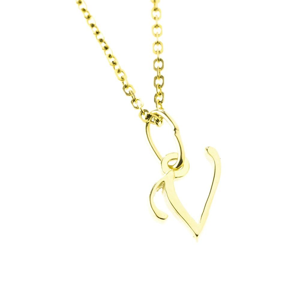 Arany V-betűs medál (Au591003)